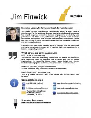 Jim Finwick Speaker Bio
